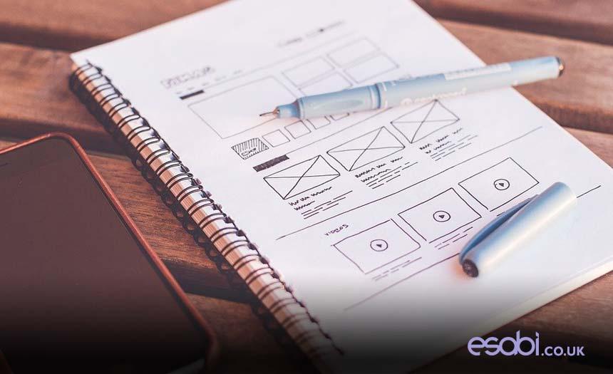 Website Design Layout Sketch